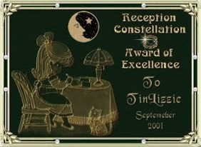 Reception Award for month of Sept 2001